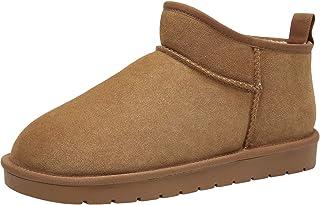 CAMEL CROWN Zapatos de Casa Botas de Invierno Hombre Espesar Zapatillas de Casa Unisexo Botas de Nieve Botines Fluff Antid...