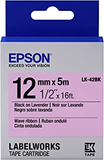 Epson LabelWorks Wave Ribbon LK (Replaces LC) Tape Cartridge ~1/2