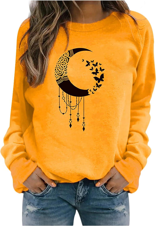 YunZyun Women's Hoodie Soft Chicago Mall Teenager Crew Popularity Neck Loose Autumn Swea