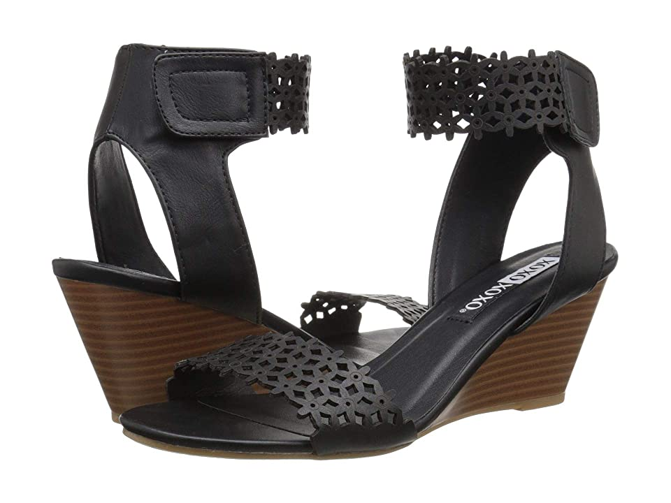 XOXO Sadler (Black) Women's Sandals
