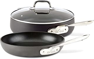 All-Clad E7859164 HA1 HA1 Hard Anodized Nonstick Dishwasher Safe PFOA Free 4-Quart Saute w/lid & 10-Inch Fry pan Cookware ...
