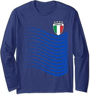 Italy Soccer Jersey Italia Flag Football Gift Long Sleeve T-Shirt