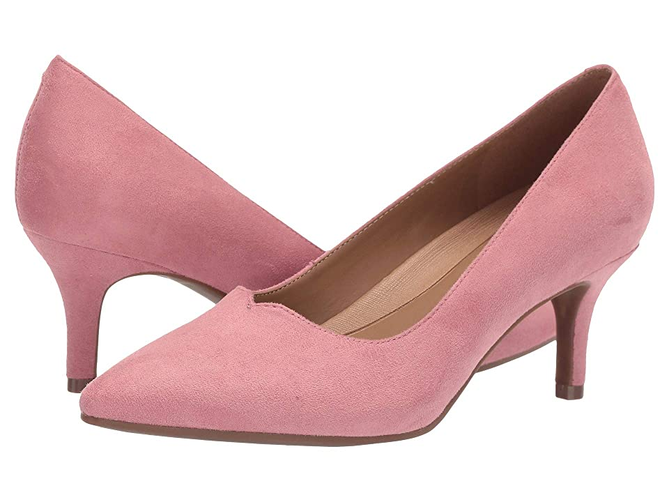 1950s Style Shoes | Heels, Flats, Saddle Shoes A2 by Aerosoles Anagram Pink Fabric Microfiber Womens 1-2 inch heel Shoes $69.99 AT vintagedancer.com