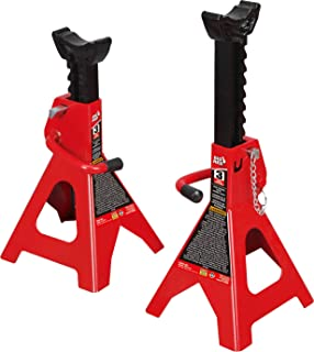BIG RED T43002A Torin Steel Jack Stands: Double Locking, 3 Ton (6,000 lb) Capacity, 1 Pair