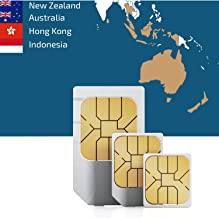 travSIM: Prepaid 3UK Data SIM Card for South Eastern Asia and Oceania with 12 GB Data Valid for 30 Days (Coverage in New Zealand, Australia, Hong Kong and Indonesia at 3G/4G LTE Internet Speed)