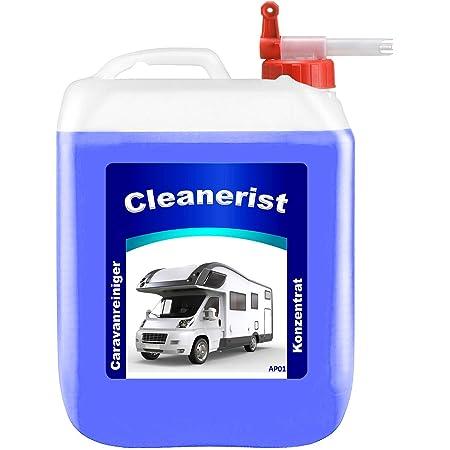 5 Liter Cleanerist Ap01 Caravanreiniger Konzentrat Inkl Sabeu Fluxx Auslaufhahn Spezieller Reiniger Für Caravan Wohnwagen Wohnmobil Und Reisemobil 4 78 Euro Liter Auto