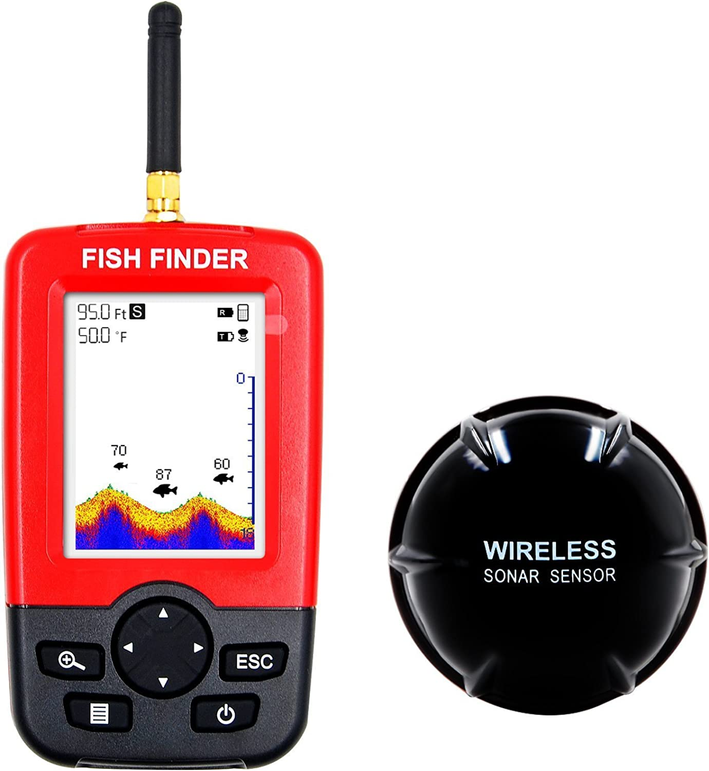 PuPoPan Wireless Fishfinder Fish Finder Sonar Sensor Fliegenfischen