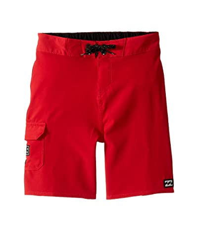 Billabong Kids All Day Pro Boardshorts (Toddler/Little Kids) (Lifeguard Red) Boy