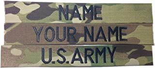 3 piece MULTICAM OCP Name Tape & US Army Tape, Sew-On (without Fastener)