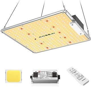 چراغ رشد LED MAXSISUN PB1000 ، چراغ رشد کامل LED برای گیاهان داخلی گیاهان و گیاهان گلدار ، تابلو نور گیاه برای پوشش یک منطقه گل 2x2ft (تراشه های 300 عددی)