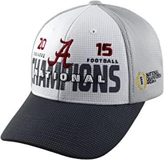 Top of the World Alabama Crimson Tide 2015 NCAA Football Champions Champs White/Gray Adjustable Hat/Cap