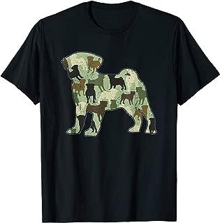 Pug Camo Dog Camouflage Novelty T-Shirt