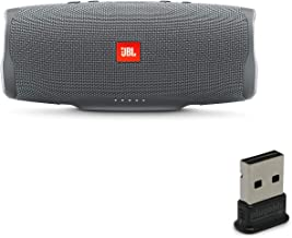JBL Charge 4 Portable Waterproof Wireless Bluetooth Speaker Bundle with USB Bluetooth Adapter - Gray