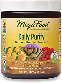 MegaFood, Daily Purify Booster Powder, Gentle Elimination and Detoxification Support, Liver Health Supplement Vegan, 2.1 o...