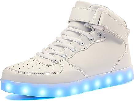 b21b792ccb335 Voovix Baskets Montants Enfant LED Lumières Multicolores avec Télécommande- Chaussures USB Rechargeable pour Garçons et