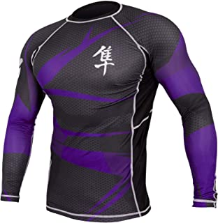 Hayabusa Metaru 47 Silver Rashguard Long Sleeve Shirt