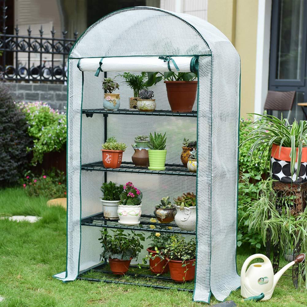 LDIW Invernaderos Jardin, 3 Niveles/4 Niveles Invernadero para Jardín Invernadero para Cultivo de Plantas,Blanco,4Tier: Amazon.es: Hogar