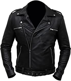 NMFashions Negan Walking Dead S7 Jeffrey Dean Morgan Black Leather Jacket