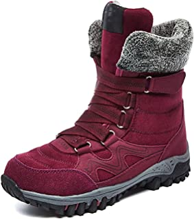 Winter Women Snow Boots Cow Suede Warm Snow Shoes Full Fur Plush Lined Long Boots Thick Bottom
