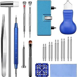 Jorest Kit Outil Montre, Kit Changement Pile Montre, Chasse Goupille Montre, Kit Reparation Montre, Remplacement Pile, Ouv...