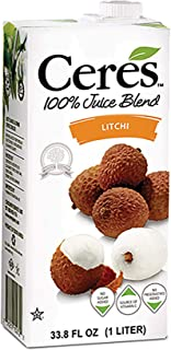 Ceres 100% All Natural Pure Fruit Juice Blend | Gluten Free | Rich in Vitamin C | No Sugar or Preservatives Added, 33.8 FL OZ, Litchi (Pack of 1)