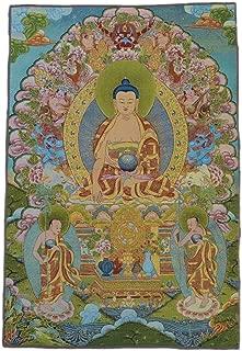 Xinshidai Tibetan Buddhist Thangka Fine Silk Embroidery Painting Tapestry 90cm 60cm (Tathagata Portraits)