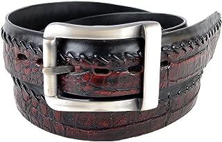 Original Black Cherry Caiman (Gator) Belly Skin Belt