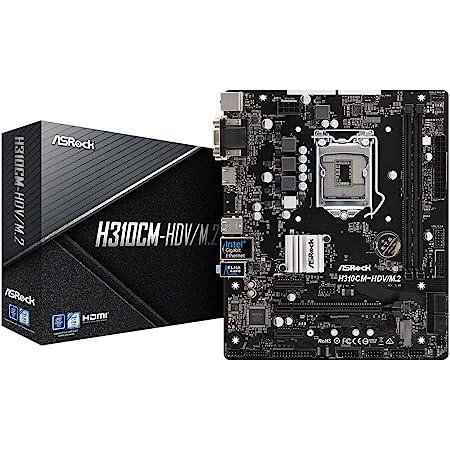 ASRock Intel H310チップ搭載 Micro ATX マザーボード H310CM-HDV/M.2