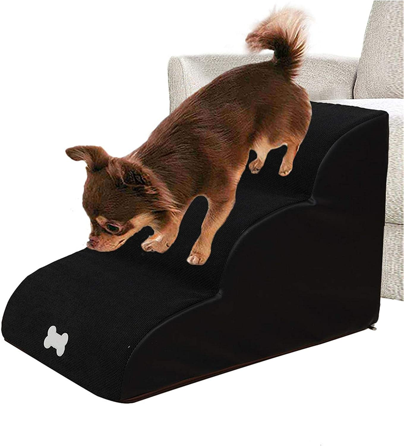 Pet Step Sofa Bed Animal Climb Stairs Assistance 3 Layers Dog Stairs Ladder Pet Stairs Step Dog Ramp Sofa Bed Ladder For Dogs Cats,Non-Slip Ramp Climbing Stair