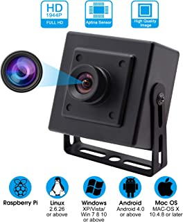 5Megapixel 2592X1944 Webcamera High Difinition Webcam with Aptina MI5100 CMOS Sensor 100 Degree No Distortion Lens USB Camera with Aluminum Mini Case Plug and Play Perfect for Industrial or Innovation