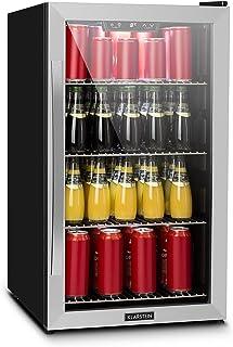 comprar comparacion Klarstein Beersafe XL - Minibar, Nevera para bebidas, Refrigerador, Silencioso, Puerta de cristal, Iluminación LED, Acero ...