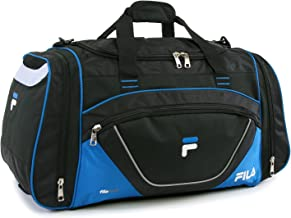 Fila Acer Large Sport Duffel Bag, Black/Blue, One Size