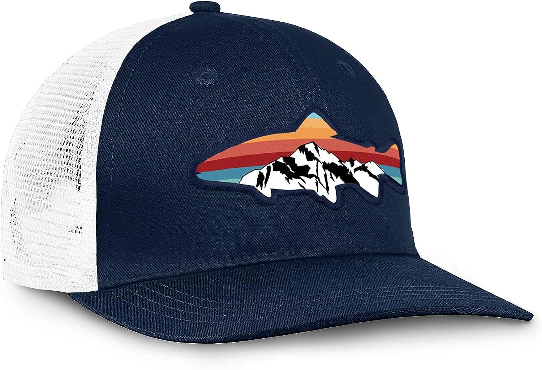 Fishing Trucker Hats for Men - Fishing Style Gifts - Mesh Ball Cap Fish Outdoor Recreation Hats