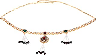 Handicraft Kottage® Gold Plated Belly Chain with Kundan Stone for Girls and Women's (HK-2020-MKundan-BellyChain)