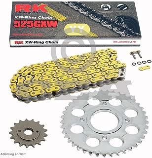 Kettenfarbe: gold L/änge 104 mit Hohlnietschloss 2005-2006 Ausf/ührung: Xs-ring Hyper verst/ärkt passend f/ür: Ducati S 1000 DS Multistrada Bj AFAM Motorrad Kette XHR Teilung-525