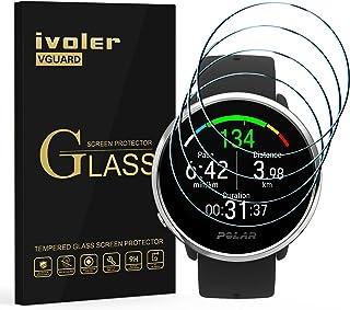 ivoler 4 stycken skottsäkert glasfilm för Polar Ignite/TicWatch Pro 3, 9H hård pansarglasfolie, anti-repor folie, anti-blå...