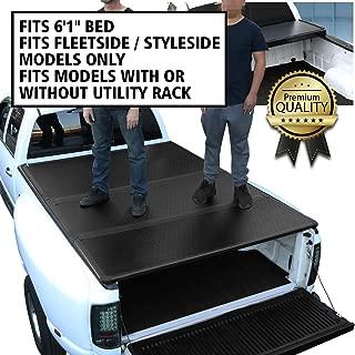 DNA Motoring TTC-HARD-044 Truck Bed Top Hard Solid Tri-Fold Tonneau Cover