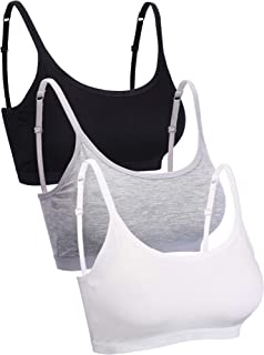 Blulu Mini Camisole Bra Wireless Padded Bra with Adjustable Straps for Women Girls Favors