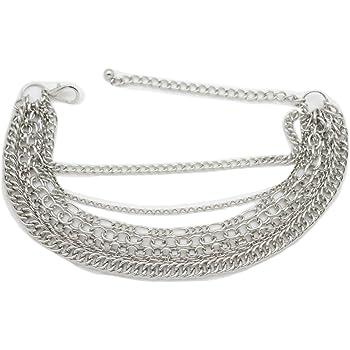 Women Boot Gold Metal Chains Bracelet Fringes Art Deco Shoe Charm Anklet Dangle