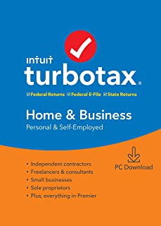 TurboTax Home & Business + State 2019 Tax Software [Amazon Exclusive] [PC Download]