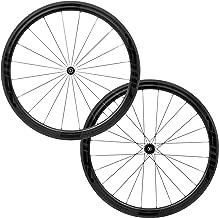 FFWD Wheels | F4R FCC DT350 | 45mm Tubeless Carbon Clincher Wheel Set DT Swiss 11 Speed Black
