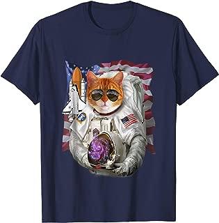 T-Shirt, Cat as Pilot Astronaut, Space Shuttle Commander