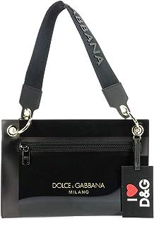 Luxury Fashion | Dolce E Gabbana Donna BI1213AK377HNY63 Nero Fibre Sintetiche Borsa A Mano | Stagione Outlet