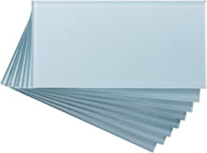 Aspect Peel and Stick Backsplash Glacier Glass Backsplash Tile Sample for Kitchen and Bathrooms (3