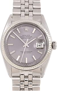 Rolex Datejust 36 mm 1601 Stainless Steel - Slate Dial - Jubilee Bracelet - Men's Pre-Owned Watch (Certified Pre-Owned)