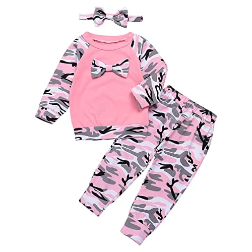 11d281961 Baby Boys Girls Family Clothes Long Sleeve Camouflage Romper Outfit Pants  Set +Headband