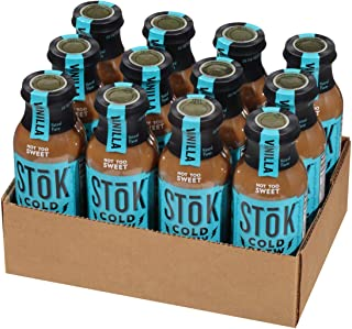 SToK Cold-Brew Iced Coffee, Vanilla, 12 Count