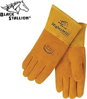 Black Stallion Mighty MIG 39 Expert Premium Grain Deerskin Lined MIG Welding Glo