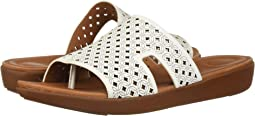 H-Bar Slide Sandals - Latticed Leather