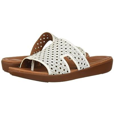 FitFlop H-Bar Slide Sandals Latticed Leather (Urban White) Women